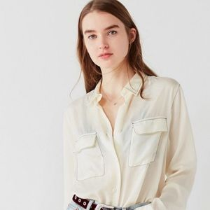 UO Contrast Stitch Button Down